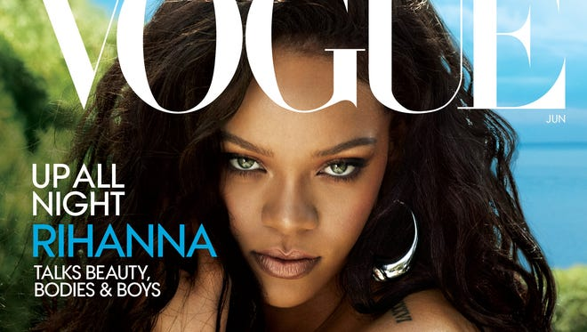Rihanna on the cover of 'Vogue.'