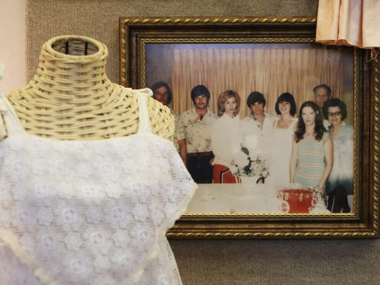 """The Union Museum of History displays """"Something Old,"""" a collection of 22 vintage wedding dresses from families in Union Parish in Farmerville, Wednesday, June 7, 2017. The exhibit is open until June 14."""