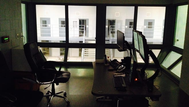 The control tower in the new Lyon County Jail.