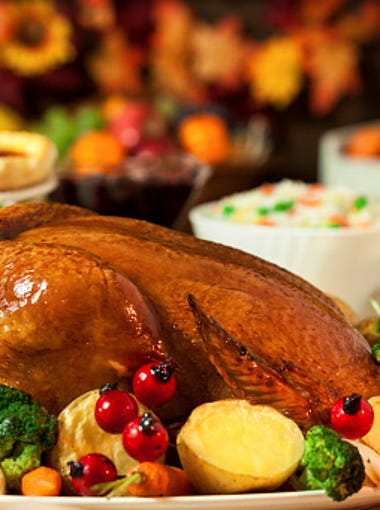 A 16-pound turkey this year costs $19.52, down from $20.80 last year.