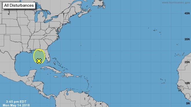 This large area of thunderstorms could acquire some tropical characteristics as it moves northward across the Gulf of Mexico during the next few days.