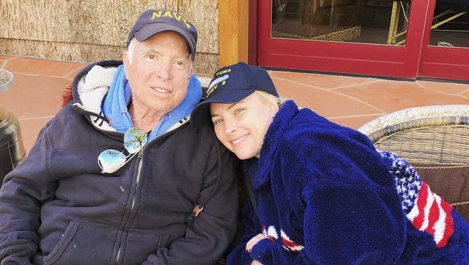 Sen. John McCain and his daughter, Meghan, in an undated photo posted to Instagram on March 18, 2018.