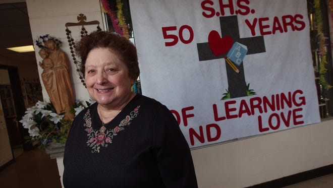 Sacred Heart School in Rockaway is celebrating their 50th Anniversary this year and Principal Sister Marie DiLorenzo has been there since the beginning in 1986. March 25, 2015.