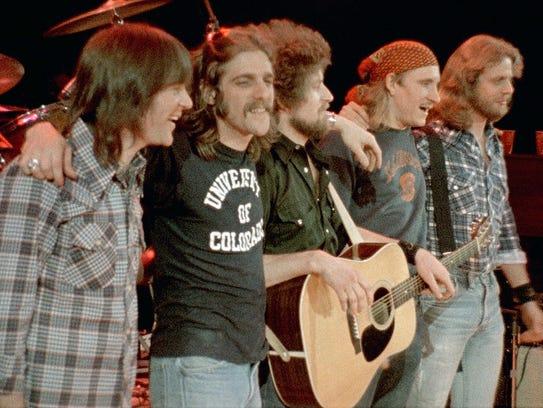 TheEagles. l-r, Randy Meisner,Glenn Frey, Don Henley,