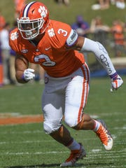 Clemson defensive lineman Xavier Thomas (3) during the the spring game in Memorial Stadium in Clemson on Saturday, April 14, 2018.