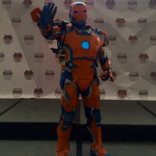 Custom Denver Broncos Iron Man hand made by me. Took 4 months to make!