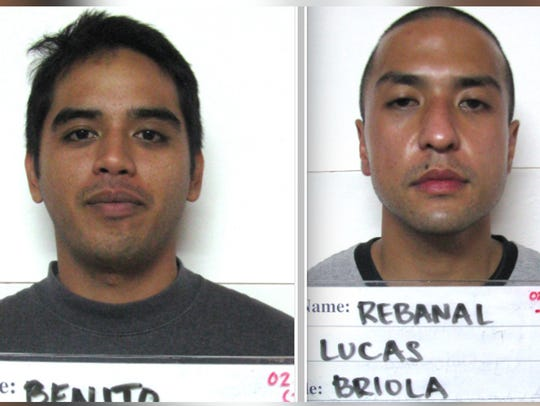 Vince Mikel Benito, left, and Lucas Briola Rebanal