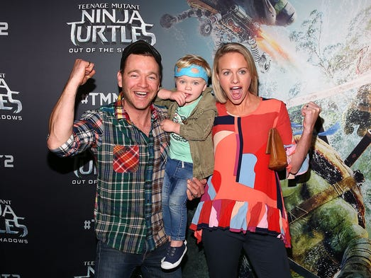 Brodie Young (L) attends the Teenage Mutant Ninja Turtles: