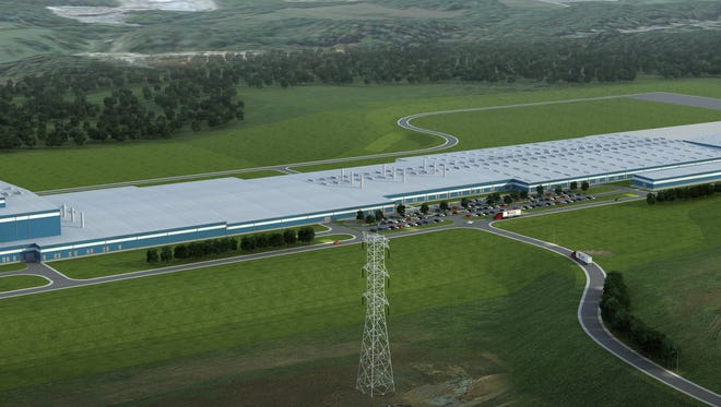 Rendering of the Dickson Dal-Tile plant, which is currently under construction.