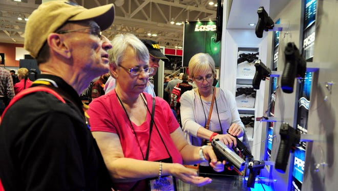 NRA Annual Convention attendees in Nashville, Tenn., in April 2015.
