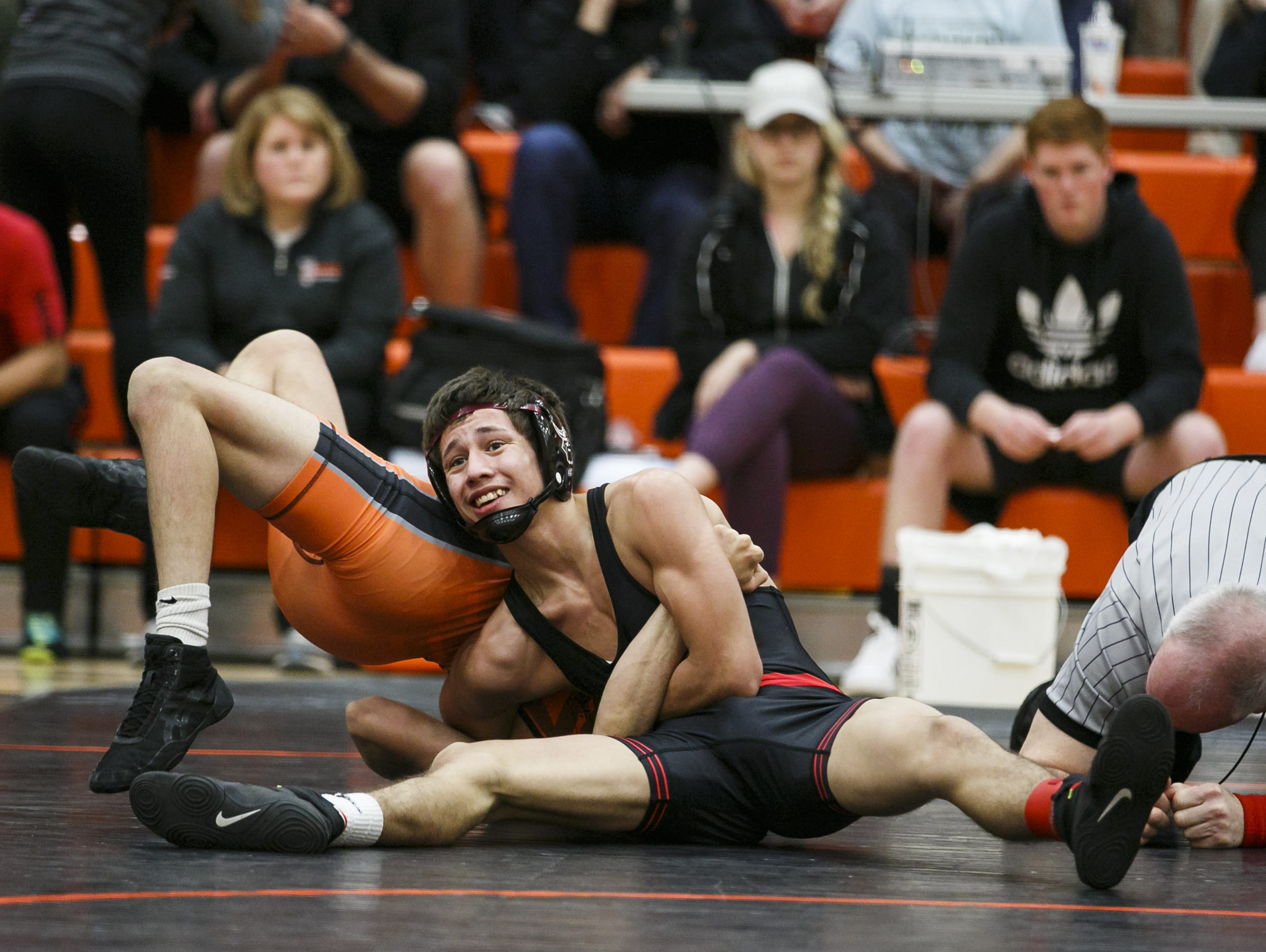 North Salem's Brandon Quezada was among five Viking wrestlers who qualified for the state wrestling championships this weekend.