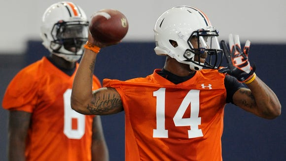 """Auburn quarterbacks Jeremy Johnson and Nick Marshall have both been told to """"be ready to play"""" this week."""