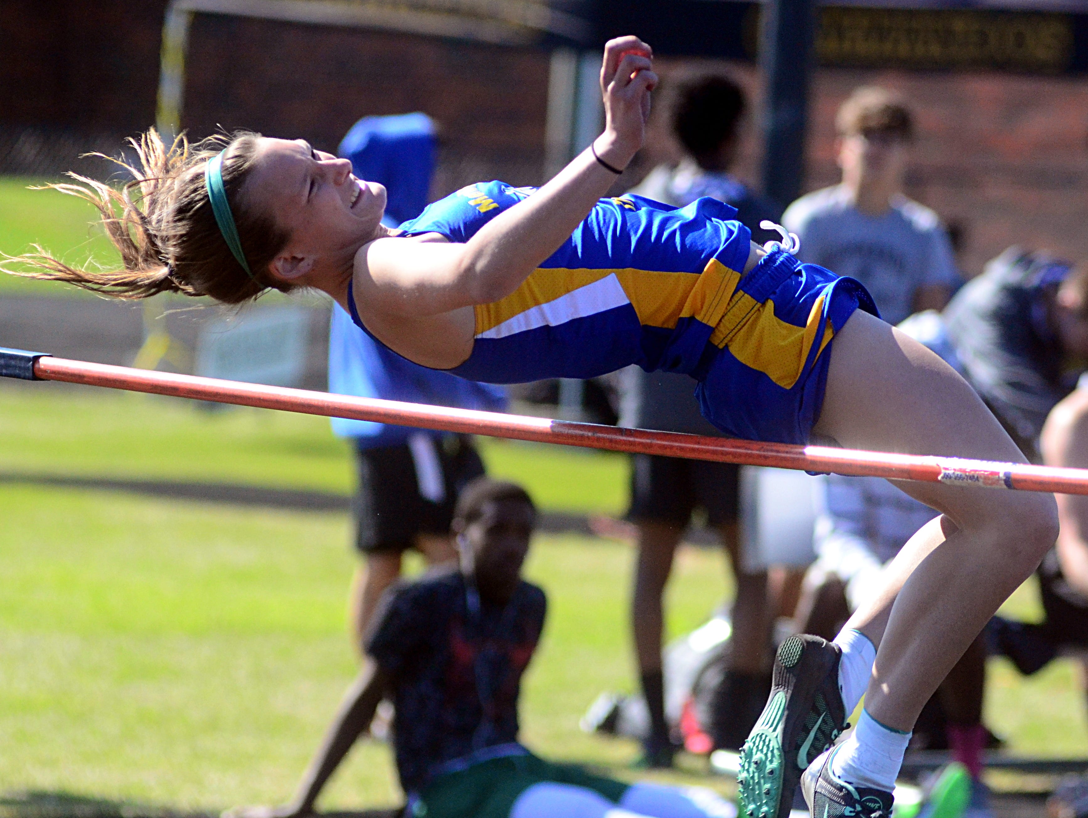 Merrol Hyde Magnet junior Emilie Boone finished third in the girls' high jump with a best effort of 4 feet, 8 inches.