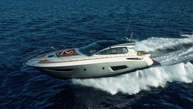 """The Azimut Atlantis 50 Coupe is being billed as the """"Queen"""" of the Progressive Insurance Atlantic City Boat Show."""