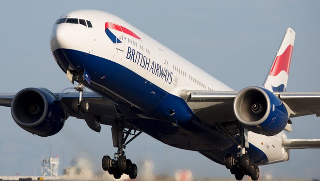 A British Airways Boeing 777 takes off from San Francisco International Airport on Oct. 23.