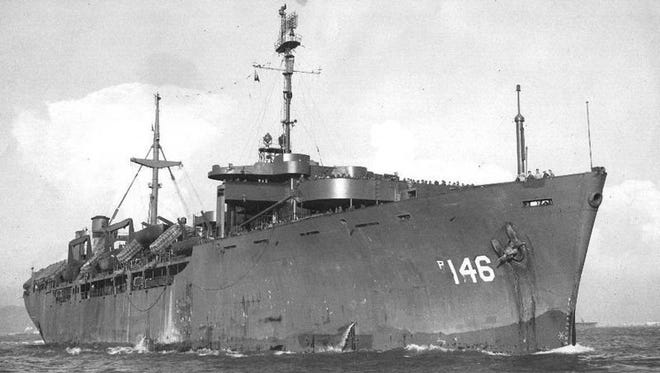 """Typical of the """"Liberty"""" ships which U.S. maritime builders turned out in WWII is the William S. Haas aboard which Al Cooper rode to war in Korea."""