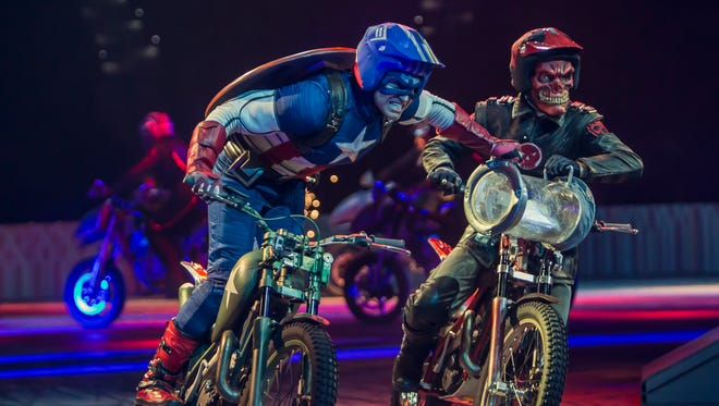 Captain America and Red Skull face off on the fast track in a battle of good and evil.