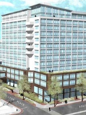 Rendering of 'repurposed' Esplanade in downtown White Plains.