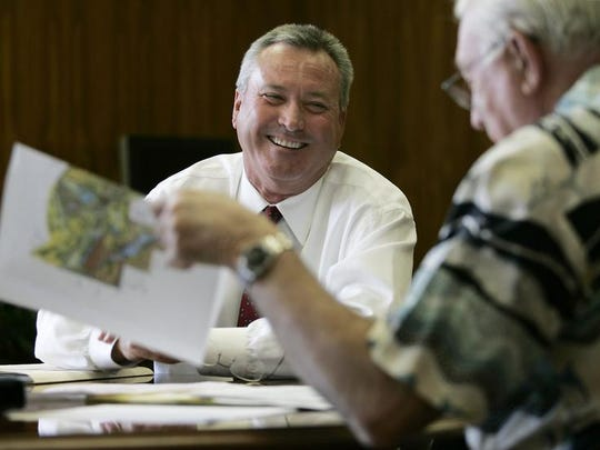 Former Indio city manager Glenn Southard, photographed in 2005, on his first day at city hall.