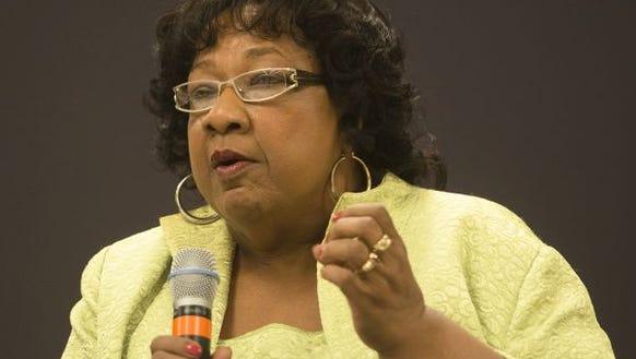 Name: Ella Bell  Age: 67  Occupation: District 5 representative
