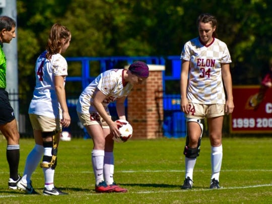 Colie prepares for kickoff on her senior day at Elon