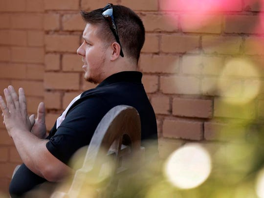Brent Johnston speaks during an interview in Rutherfordton,