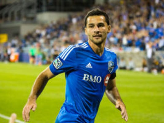 Dilly Duka plays for Montreal against Los Angeles on Sept. 10, 2014.