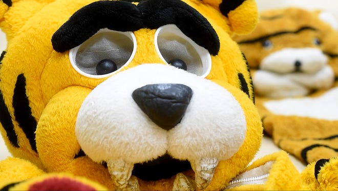 The old tiger mascot costumes from Harrisburg High School are up for auction this summer.