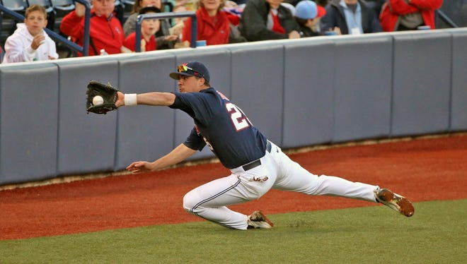 Third baseman Colby Bortles will participate in the TD Ameritrade College Home Run Derby on Sunday.
