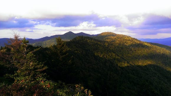 View from the summit of Black Rock. The Assault on BlackRock 7-mile Trail Race is March 18 at Pinnacle Park in Sylva.