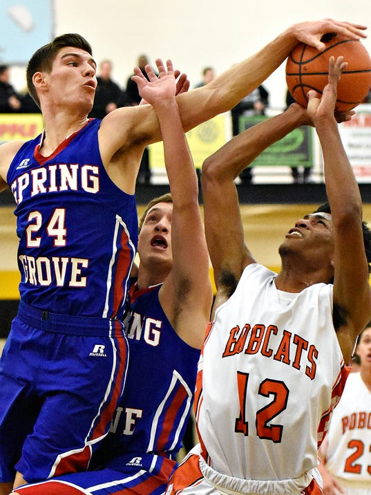 Spring Grove vs Northeastern boys basketball semifinal