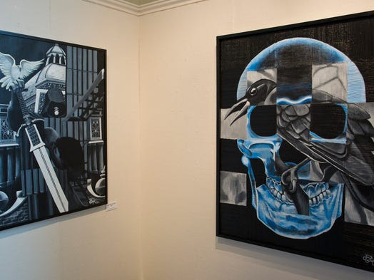 Art work by Robin Coyner at the Tippecanoe Arts Federation in Lafayette.