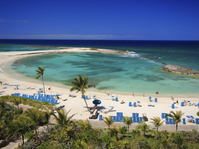 """""""It's better in the Bahamas,"""" boasts the archipelago of 700 coral-based islands in the Caribbean."""