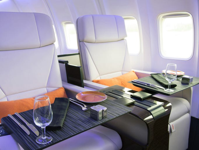 """The """"Four Seasons Private Jet"""" is a Boeing 757 overhauled"""