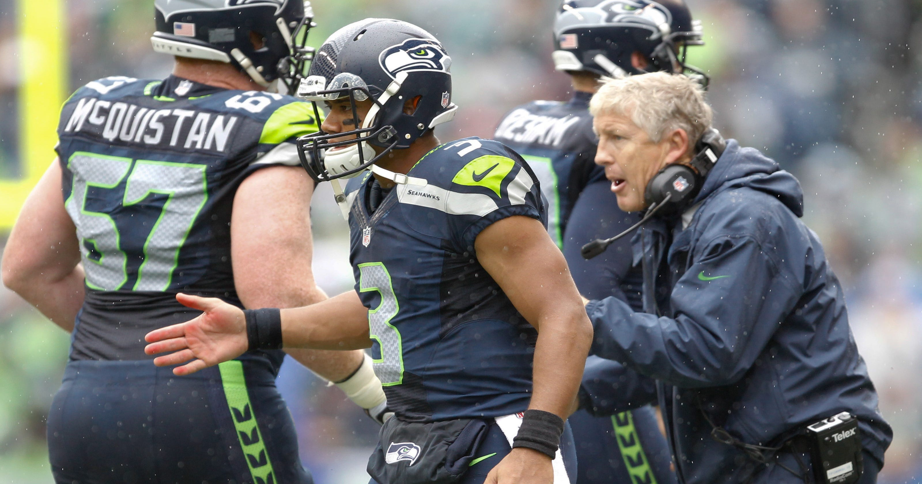 0487f04a4 Russell Wilson fires four TD passes in Seahawks  rout of Jaguars