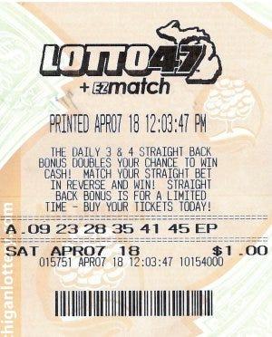 Mi lotto 47 prizes for mega