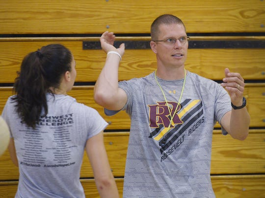 Roosevelt High School volleyball head coach Kevin Vanderwall