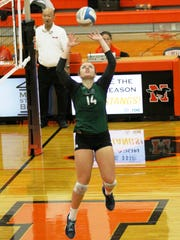 Novi senior setter Erin O'Leary finished with 47 assist-to-kills in the win over Northville.