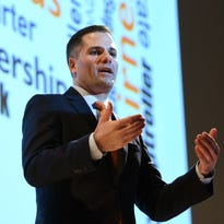 Dutchess County Executive Marc Molinaro gives his State of the County address on Wednesday at the Culinary Institute of America in Hyde Park.