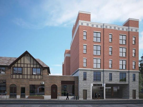 A rendering of the proposed Colonial Court apartments