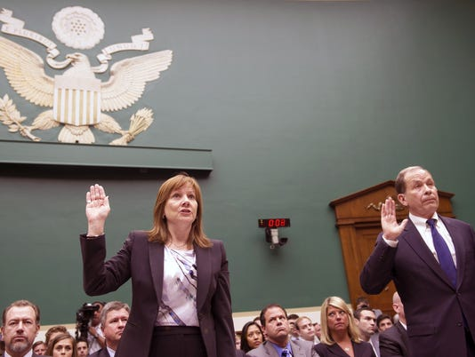 Mary Barra, Anton Valukas testify