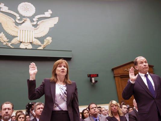 Mary Barra, Anton Valukas testify