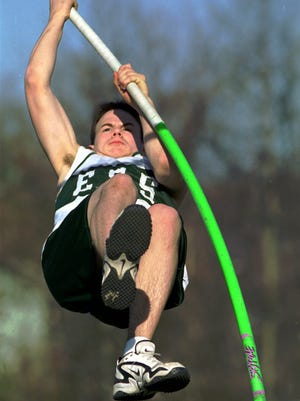 Adam Sansiveri competes in the pole vault for Southside in 1998.