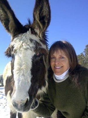Veterinarian and author Karlene Stange speaks Friday night at the Farmington Public Library.