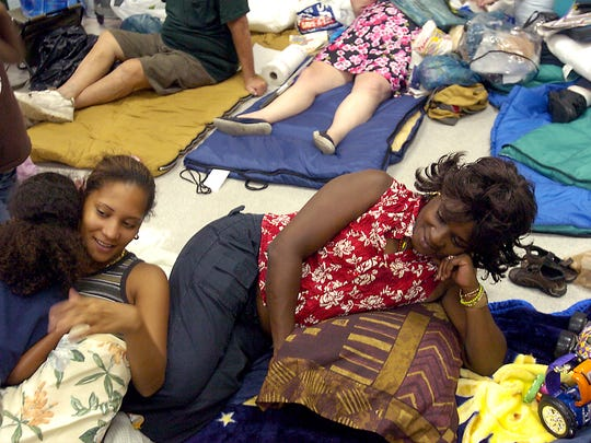 In 2004, many Treasure Coast residents hunkered down at shelters during Hurricane Frances and Hurricane Jeanne.
