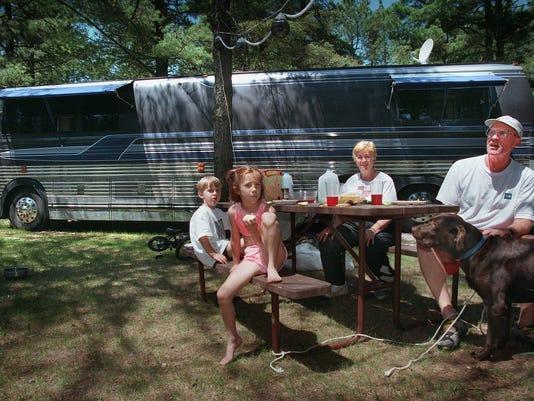 Family in Kohler-Andre State Park