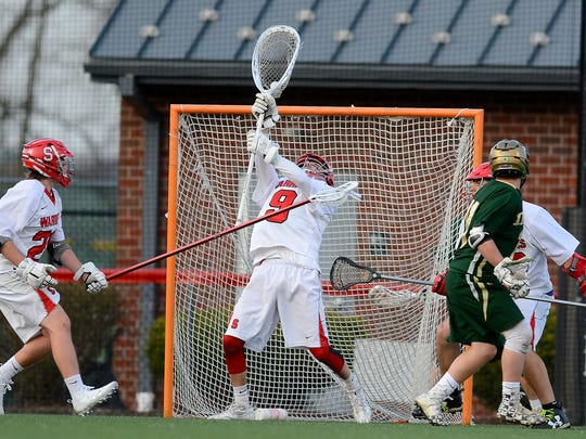 Susqueahnnock goalie Connor Kernan is seen here making a save in a file photo.