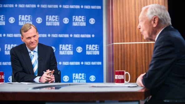 """John Dickerson, left, appears on CBS' """"Face the Nation"""""""