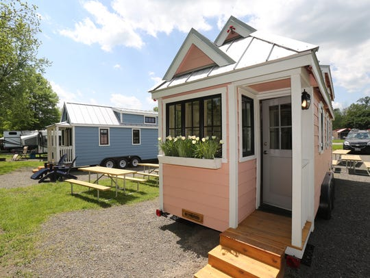 Two new tiny home rentals from left, the Boo-Boo and