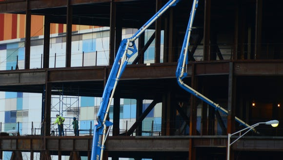 Construction at the American Dream Project in the Meadowlands